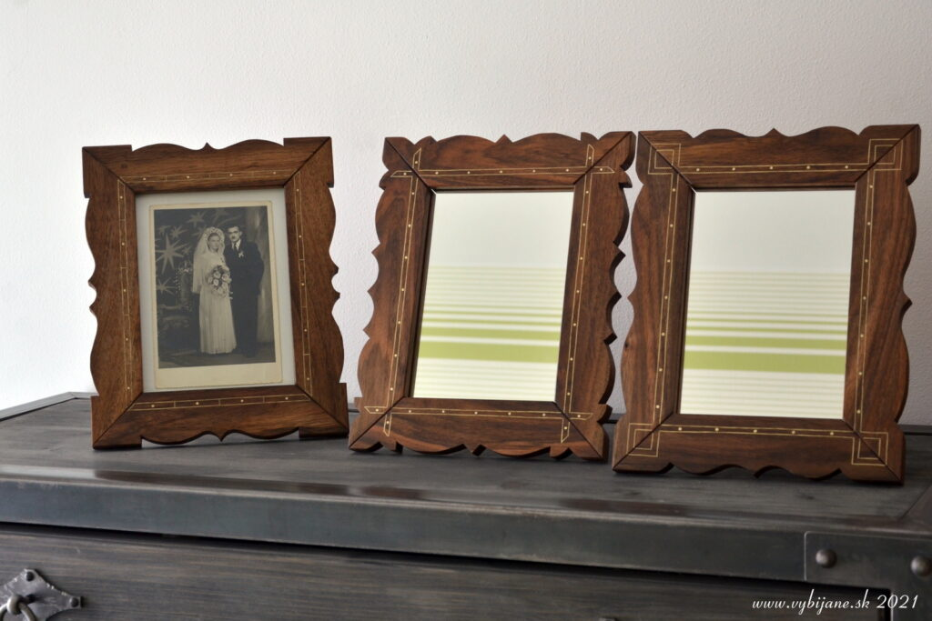 Vybíjané rámiky na fotky, alebo zrkadlo